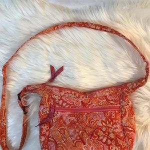 Vera Bradley orange paisley shoulder crossbody bag